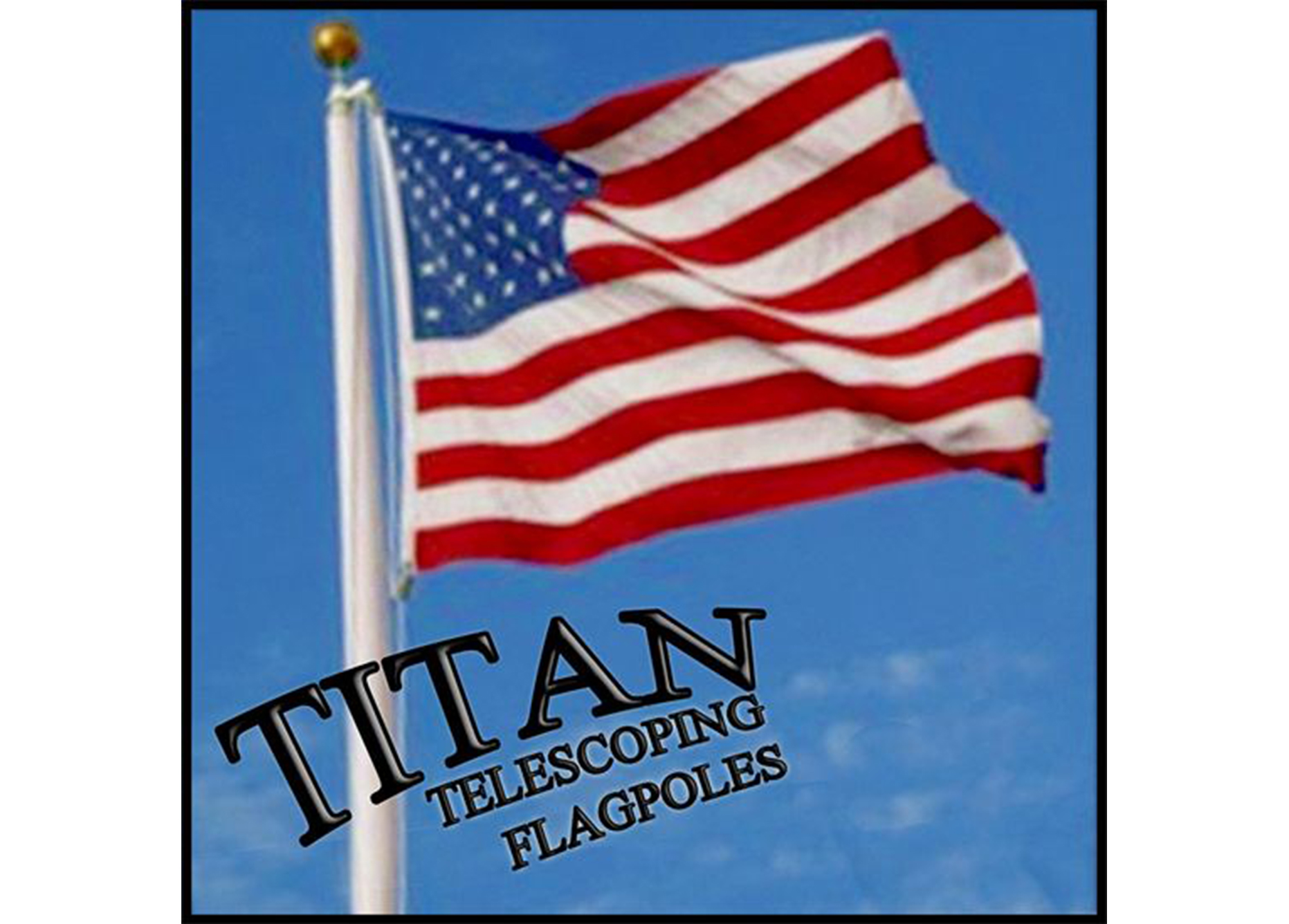 Titan Telescoping flagpole